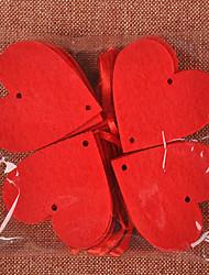 cheap -Romantic Red Hearts DIY Wedding Decoration Wedding Room Arrangement Non-woven Creative Love Heart Wedding Supplies