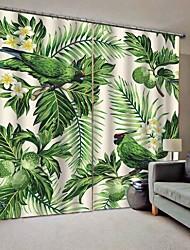 Недорогие -Горячие продажи красивые шторы сильная прочность утолщенные плотные водонепроницаемые формовочные полиэфирные занавески для ванной спальня / гостиная тепло / звукоизоляция плотные шторы