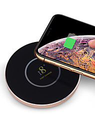 cheap -D8 Wireless Charger Fast Charger USB QI wireless charger QC2.0 Glass/Aluminum alloy wireless Charger