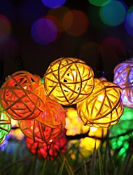 cheap -Solar Powered String Lights,20ft 30 PCS LED Waterproof Fairy Christmas Lights  Multicolor