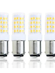 Недорогие -4шт 4 W LED лампы типа Корн 390 lm BA15D T 51 Светодиодные бусины SMD 2835 Декоративная Милый Тёплый белый Холодный белый 220-240 V