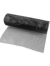 cheap -Car Silver/Black Aluminum Alloy Front Bumper Rhombic Grill Mesh Sheet (8x16mm)
