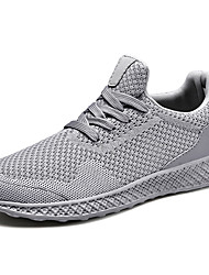 cheap -Men's Comfort Shoes Knit / Canvas Spring & Summer Sporty / Casual Athletic Shoes Running Shoes / Walking Shoes Breathable Black / Red / Gray / Shock Absorbing / Wear Proof