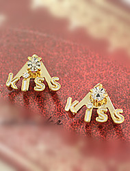cheap -Women's Stud Earrings Geometrical Precious Fashion Earrings Jewelry Gold For Christmas Street Gift Date Vacation 1 Pair