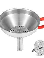 cheap -Soft Heat Insulation Handle Stainless Steel Funnel with Filter