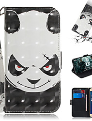 cheap -Case For Asus ASUS Zenfone max M1 ZB555KL Wallet / Card Holder / with Stand Full Body Cases Animal / 3D Cartoon PU Leather