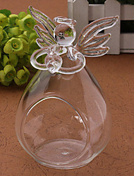 cheap -Romantic 100% Angel Crystal Glass Candle Holder Hanging Tea Light Lantern Candlestick Burner Vase DIY Wedding Party Decoration