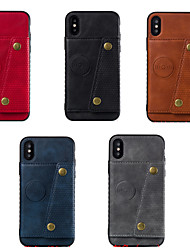 cheap -Case For Apple iPhone XS / iPhone XR / iPhone XS Max with Stand / Flip Full Body Cases Solid Colored TPU