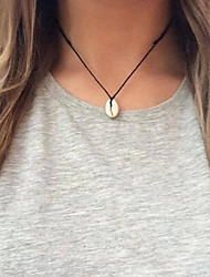 cheap -Women's Pendant Necklace Charm Necklace Handmade Shell Simple Bohemian Fashion Shell Black 45 cm Necklace Jewelry 1pc For Daily Holiday