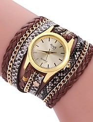 cheap -Women's Wrap Bracelet Watch Quartz Leather Lovely Analog Casual - Black Brown White