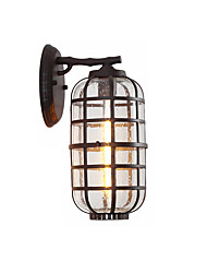 cheap -Waterproof  Wall Lantern Contemporary Design 1-Light Outdoor Wall Sconce Glass Cylinder Lantern Wall Light Garden Wall Light Fixtures Black