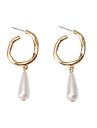 cheap -Women's Earrings Classic Drop Pearl Earrings Jewelry Gold / White For Christmas Party Anniversary Carnival Festival 1 Pair
