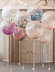 cheap -10pcs Air Ballons Multicolor Confetti Balloon Paper Wishing Lanterns For Birthday Party Wedding Gifts Clear Inflatable Balloon