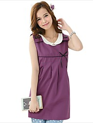 cheap -Women's Casual / Daily Home Basic Maternity Cotton Loose Tank Top - Solid Colored Lace / Backless Shirt Collar Purple