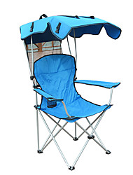 cheap -Camping Chair with Cup Holder Portable Anti-Slip Foldable Comfortable Steel Tube Oxford for 1 person Camping Camping / Hiking / Caving Traveling Picnic Autumn / Fall Spring Blue