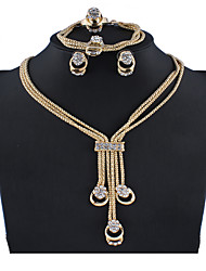 cheap -Women's Silver Gold Bridal Jewelry Sets Link / Chain Pear Vintage Earrings Jewelry Gold / Silver For Wedding Engagement Gift 1 set