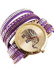 cheap -Women's Necklace Watch Quartz Leather Casual Watch Analog Fashion - Black Purple Fuchsia