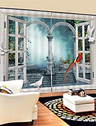 Недорогие -3d цифровая печать современная конфиденциальность две панели полиэфирные шторы для наружной гостиной водонепроницаемые пылезащитные декоративные шторы