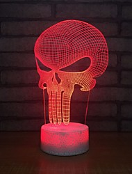 cheap -Punishing Colorful Masks 3d Lights Moderne Table Table Lamp Energy Saving Lamps Table Lamps Usb Creative Night Light