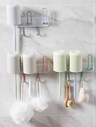 cheap -Hooks / Toothbruh Holder Waterproof / Self-adhesive / Multifunction Ordinary / Cartoon / Modern Contemporary Plastic 1pc - tools Toothbrush & Accessories