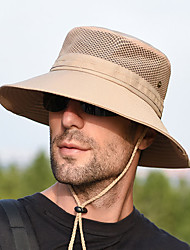 cheap -Boonie hat 1 PCS Portable Windproof Anti-Eradiation Comfortable Solid Color Terylene Autumn / Fall Spring Summer for Men's Women's Camping / Hiking / Caving Traveling Khaki Dark Navy Dark Gray