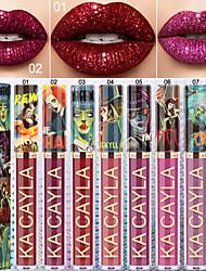 abordables -rouge à lèvres liquide brillant brillant scintillant durable imperméable métal perle velours rouge à lèvres rouge à lèvres