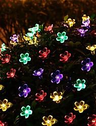 Недорогие -7 м новая солнечная система освещения 50 светодиодный цветок плащ цепь фея рождественская елка освещение фестиваля свадьба новогоднее украшение кольцо 1 компл.