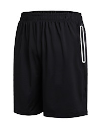 cheap -Men's Running Shorts Running Split Shorts Athletic Shorts Sport Gym Workout Running Beach Breathable Quick Dry Ventilation Plus Size Black Solid Colored Fashion / Micro-elastic