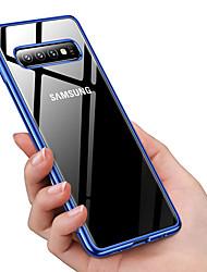 Недорогие -ультра тонкий прозрачный чехол для телефона для samsung galaxy s10 plus / s10 e / s10 покрытие мягкий тпу силиконовый полный противоударный