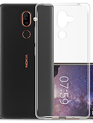 cheap -Case For Nokia Nokia 7 Plus / Nokia 7.1 Dustproof Back Cover Solid Colored Soft TPU