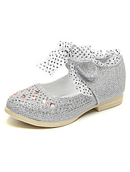 cheap -Girls' Comfort / Flower Girl Shoes Synthetics Flats Bow Little Kids(4-7ys) / Big Kids(7years +) Rhinestone / Bowknot Pink / Gold / Silver Spring / Fall / Party & Evening / TR