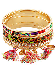 cheap -7pcs Women's Hollow Rainbow Colorful Hippie Mariner Stainless Steel Bracelet Jewelry Rainbow For Party Daily Club