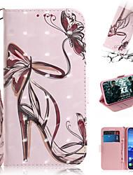 Недорогие -Кейс для Назначение Huawei Huawei Nova 3i / Huawei Nova 4 / Huawei nova 4e Кошелек / Бумажник для карт / со стендом Чехол Соблазнительная девушка Кожа PU