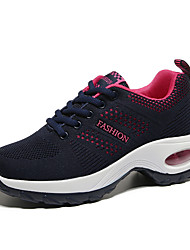 cheap -Women's Athletic Shoes Wedge Heel Round Toe Tissage Volant Sporty / Casual Running Shoes / Fitness & Cross Training Shoes Spring &  Fall / Fall & Winter Black / Blue+Pink / Fuchsia