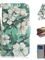cheap -Case For Google Pixel 3a XL / Google Pixel 3a Wallet / Card Holder / Shockproof Full Body Cases Flower PU Leather