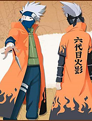 cheap -Inspired by Naruto Naruto Uzumaki Anime Cosplay Costumes Japanese Cosplay Suits Print Cloak For Men's