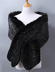 cheap -Sleeveless Faux Fur / Acrylic Wedding / Party / Evening Women's Wrap With Jacquard Shawls