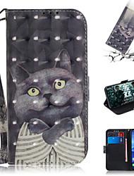 cheap -Case For Huawei Huawei Nova 3i / Huawei Nova 4 / Huawei nova 4e Wallet / Card Holder / with Stand Full Body Cases Animal / 3D Cartoon PU Leather