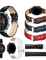 cheap -Genuine Leather Wristband Wrist Strap Watch Band for Samsung Galaxy Watch 46mm / Gear S3 Classic / Gear S3 Frontier Smart Watch Bracelet Accessories