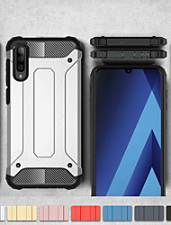 cheap -Shockproof Cover Phone Case For Samsung Galaxy A50 A70 A40 A30 A20 A10 A20e Rubber Armor Hybrid PC Hard Cover For A7 2018 A8 Plus 2018 A8 2018 A6 Plus 2018 A6 2018 Silicone TPU Case