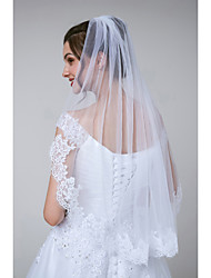 cheap -One-tier Sweet Style / Classical Wedding Veil Elbow Veils with Appliques Tulle