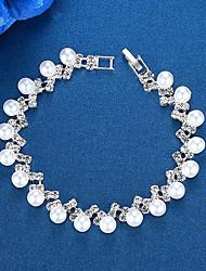 cheap -Women's Chain Bracelet Bracelet Classic Ball Simple European Fashion Elegant Imitation Pearl Bracelet Jewelry Silver For Wedding Party Engagement Gift Daily / Imitation Diamond