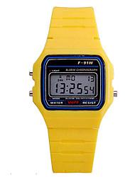 Недорогие -Спортивные часы силиконовый Цифровой Желтый