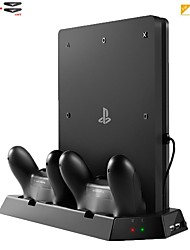 cheap -Vertical Stand Cooling Fan with Charger Station for Sony Playstation 4 PS4 Slim Console  Dual USB HUB Charger Port