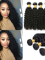 cheap -6 Bundles Malaysian Hair Kinky Curly Unprocessed Human Hair 100% Remy Hair Weave Bundles Natural Color Hair Weaves / Hair Bulk Bundle Hair Human Hair Extensions 8-28 inch Natural Color Human Hair