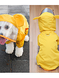 cheap -Dog Rain Coat Dog Clothes Yellow Green Costume Mixed Material Waterproof S M L XL XXL