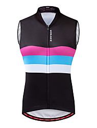 cheap -WOSAWE Women's Sleeveless Cycling Jersey Cycling Vest Black Rainbow Bike Vest / Gilet Jersey Mountain Bike MTB Road Bike Cycling Breathable Moisture Wicking Quick Dry Sports Polyster Clothing Apparel