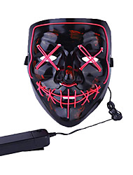 cheap -LED Mask Inspired by Scary Movie Blushing Pink Orange Halloween Carnival Adults' Men's Women's