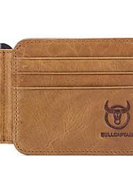 Недорогие -(bullcaptain) мужская кожа 18-слойный верхний слой кожи ультратонкий долларовый зажим для кошелька водительские права пакет карт с несколькими фотоальбомами