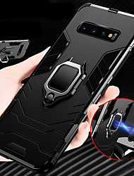 cheap -Luxury Armor Ring Stand Case For Samsung Galaxy S10 Plus S10 E S10 Shockproof Case Cover S9 Plus S9 S8 Plus S8 Soft Silicone TPU Car Holder Case